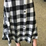 NY Collection- Black and White Plaid Skirt 2