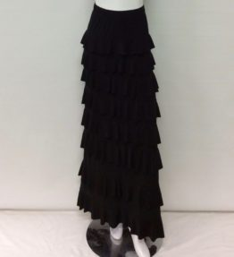 Kate Mallory Black Tiered ruffle skirt-2