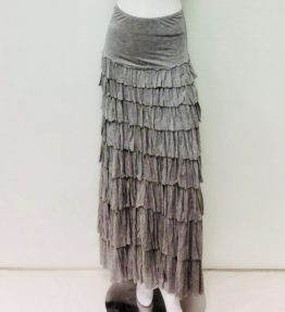 Kate Mallory Heather gray Tiered ruffle skirt