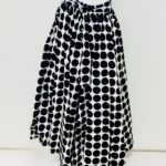 African Black and White Polkadot Maxi Skirt